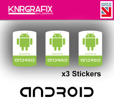 KNR7719 3x Android Sticker Decal Badge PC Repair