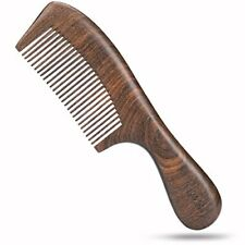 HS Wooden Hair Comb Wide Tooth Wood Anti Static for Women Men Long Hair