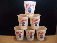 Lot of 6 Vintage Pabst Blue Ribbon Beer 16 oz. Wax Drinking Cups