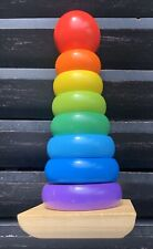 MELISSA & DOUG Wooden Rainbow Ring Classic Stacker Toy Educational Toy