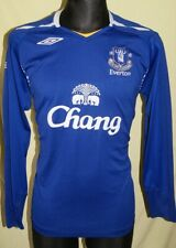 Long Sleeve Everton Home football shirt 2007 - 2008 Size L Excellent Jersey