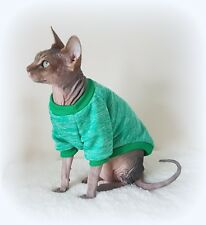 ADULT M long sleeves MARL GREEN cat jumper for a Sphynx  cat, cat clothes