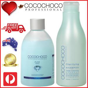 ❤❤ COCOCHOCO Pro PURE Keratin Hair Treatment 250ml + CLARIFYING SHAMPOO 400ml