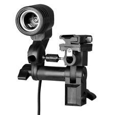 walimex Lampenhalterung E27 + Blitzschuh, 360° drehbar, 180° schwenkbar