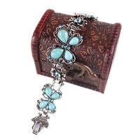 Eg _ Retro Schmuck Türkis Armband Schmetterling Kristall Inlay Tibetische