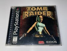 Tomb Raider (Sony PlayStation, 1996) Ps1 Black Label Complete With Manual Tested