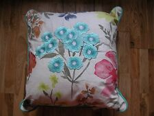 NEXT PAINTERLY FLORAL EMBROIDERED SHABBY CHIC VINTAGE CUSHION GOES CURTAINS