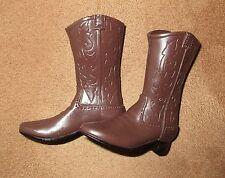 1/6 Scale Cowboy Boots - Stiefel Walking Dead Rick Grimes Schuhe brown Sheriff