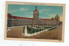 NY Albany New York antique linen post card D & H and Journal Building