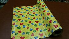 Half ream 30 inch wide Bright Hearts Valentine gift wrap 417 feet