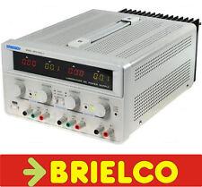 FUENTE DE ALIMENTACION LABORATORIO REGULABLE DOBLE 0-30V 0-3A +FIJA 5V-3A BD6735