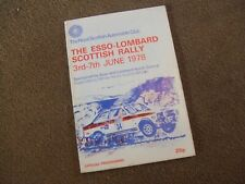 1978 Esso Lombard International Scottish Rally Official Programme