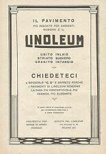 W0257 Pavimento LINOLEUM - Pubblicità 1925 - Advertising