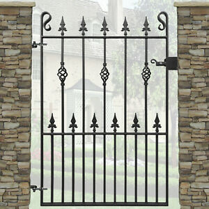 Spear Garden Gate Wrought Iron Metal Steel Gates | 3ft 3in Opening | 4ft High