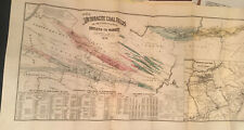 New ListingOrig 1879 Historical Map Of Pennsylvania Showing Anthracite Coal Fields
