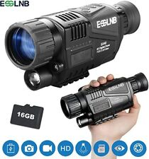 "Monocular 5X40 HD Night Vision with 1.5"" TFT LCD 16G Card Camera Video Recorder"