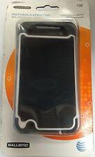 Ballistic Shell Gel For Motorola Atrix HD SG0931-M181-AC Gray/White Retail Box