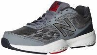 New Balance Mens MX517BG1 Low Top Lace Up Running Sneaker, Grey/Red, Size 12.0 s