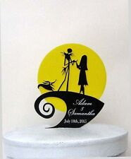 Custom Wedding Cake Topper -The Nightmare Before Christmas with your names