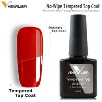Canni Venalisa 7.5ml Super Glossy Shiny Tempered Glass UV LED Nail Top Coat 1Pc