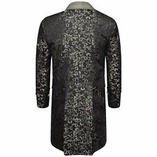 Mens Frock Coat Fancy Steampunk Multi colour Victorian Gothic Jacket Wedding