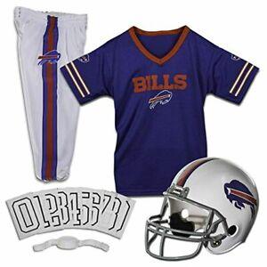 Franklin Sports NFL Kids Football Uniform Costume Set Buffalo Bills Large Size