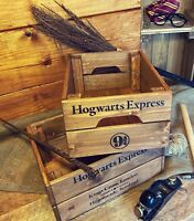 Wooden Storage Box Crate Hogwarts School Vintage Style Collectable Harry Potter