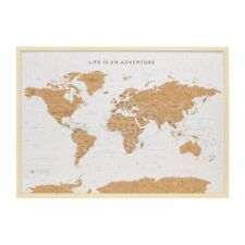World Map Travel Pin Board by Splosh - Large TVB04
