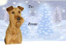 Irish Terrier Christmas Labels by Starprint