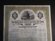 United New Jersey Railroad & Canal Company 1929 CrispCrisp Gold Bearer Bond