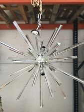 Chandelier murano glass triedo sputnik metal frame in kromo