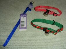 Lot Of 3 Cat Collars-One Brand New & Other 2 Never Used/Blue/Pink/Christmas