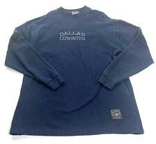 Vintage Shield Gear NFL Dallas Cowboys Woven Sweatshirt Mens Large