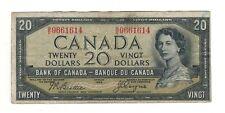 Canada 1954 $20 Bank of Canada Banknote B/E Devil's Face