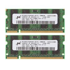 2x 2GB Micron 2GB 2Rx8 PC2-5300 DDR2 667Mhz 200pin SODIMM Laptop Memory #1204504