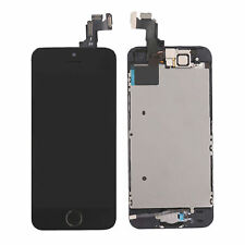 for iPhone 5s Black Touch Screen LCD Digitizer Replacement Home Button Camera