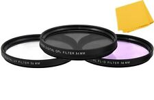 55mm (UV-FLD-CPL) Filter Kit For Nikon D5600 D3400 w/ AF-P DX 18-55mm Lens