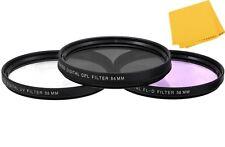 55mm (UV-FLD-CPL) Filter Kit For Nikon D5600 D3400 w/ AF-P DX 18-55mm Lens