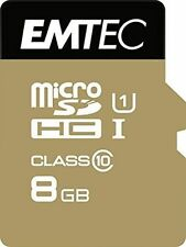 MicroSDHC 8gb Emtec Adapter Cl10 Gold Uhs-i 85mb/s BLISTER