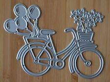 Corte De Metales Die-Party para bicicleta con flores y globos (transporte)