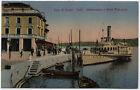 cartolina SALO' lago di garda-imbarcadero e hotel metropole