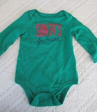 NWOT - Circo, Christmas Green 1 Pc. Outfit, 6-9 mos, SANTA'S FAVORITE!