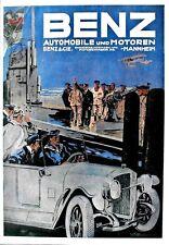 Original vintage print BENZ GERMAN AUTOMOBILES c.1915