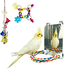 3 Packs Parakeet Bird Toys for Parakeets Cockatiels Parrot Cage Accessories...