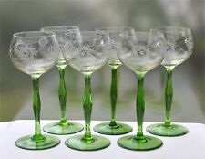 6 gleiche Jugendstil Weingläser Schleuderstern-Schliff (2 x 6 vorhanden))
