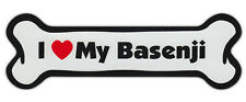 Dog Bone Shaped Car Magnets: I Love My Basenji