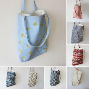 Womens Tote Shoulder Bag Flower Print Large Capacity Casual Shopping Handbag