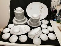 Vintage Sango Francine Fine China Dinnerware Set 67 Pcs
