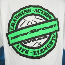b68ca085bb776a vintage 90s NEW SPORT WEAR T-Shirt LARGE surf beach skate action hip hop
