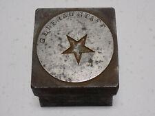 WWI US Army General Staff Star Insignia Metal Stamp Die